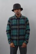 Chemise manches longues homme Stussy-Woold Plaid-FW17/18