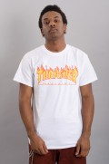 Tee-shirt manches courtes homme Thrasher-T-shirt Flame Logo-FW17/18