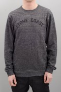 Sweat-shirt homme Volcom-Edwart C Fleece Black-SPRING16