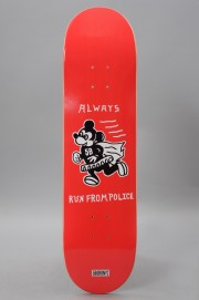 Plateau de skateboard 5boro-Always Run Red 8.0 X 32-2017