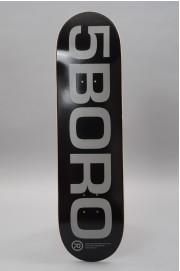 Plateau de skateboard 5boro-Ext Logo Black Reflective 8.25 X 32-2018