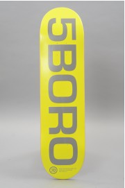 Plateau de skateboard 5boro-Ext Logo Yellow Reflective 8.0 X 32-2018
