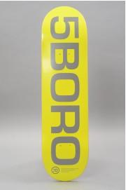 Plateau de skateboard 5boro-Ext Logo Yellow Reflective 8.25 X 32-2018