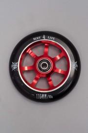 841-Roue Delta 110 Red Avec Roulements Abec 7-INTP