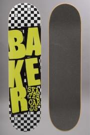 Plateau de skateboard Baker-Stacked Check Neon-2016