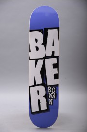 Plateau de skateboard Baker-Stacked Name Rz Purple 7.875-2018