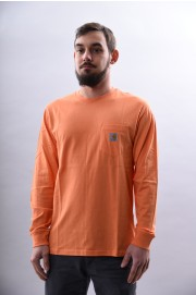 Tee-shirt manches longues homme Carhartt wip-L/s Pocket T-shir-SPRING18