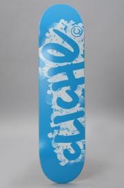 Plateau de skateboard Cliche-Logo Stamp Cyan White-2017