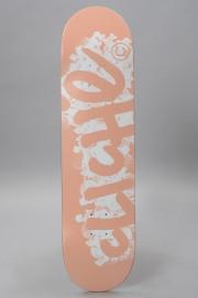 Plateau de skateboard Cliche-Logo Stamp Pink White-2017