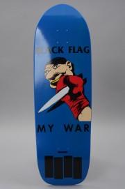 Plateau de skateboard Elephant skateboard-Black Flag My War Blue 10x31.5-2017