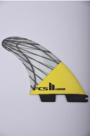 Fcs-2 Carver Pc Carbon  Yellow Large Tri Retail Fins-2018