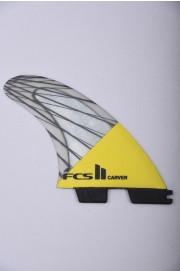 Fcs-2 Carver Pc Carbon  Yellow Medium Tri Retail Fins-2018