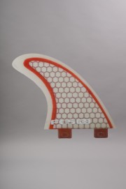 Fcs-Q-pc3 Red/clear Small Quad Fins Set-SS14