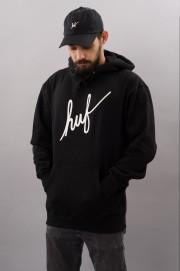 Sweat-shirt à capuche homme Huf-Demi Script Ess-FW17/18