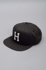 Huf-Denim Classic H Snapback Black-SPRING17