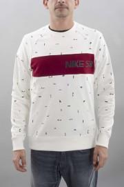 Sweat-shirt homme Nike sb-X Ch Everett Crew-FW16/17