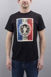 Tee-shirt manches courtes homme Obey-Liberte French Flag-SPRING17