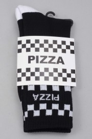 Pizza skateboard-Check Black-SPRING17