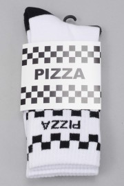 Pizza skateboard-Check White-SPRING17