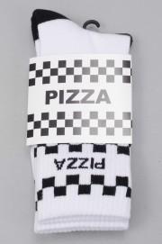 Pizza skateboard-Check White-SPRING17