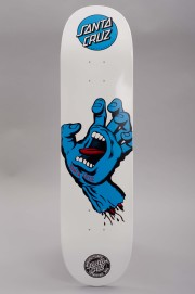 Plateau de skateboard Santa cruz-Deck Screaming  Hand Blue White-2017