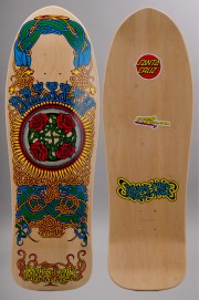 Plateau de skateboard Santa cruz-Dressen Roses Natural Reissue-2016