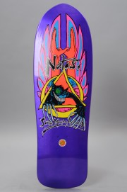 Plateau de skateboard Santa cruz-Reissue Natas Evil  Cat Met Purple-2017