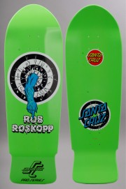 Plateau de skateboard Santa cruz-Rob Target Green Fluo Reissue-2016