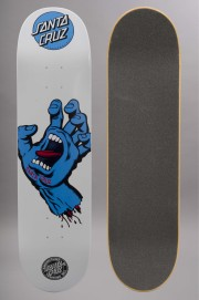 Plateau de skateboard Santa cruz-Screaming Hand Blue White-2016