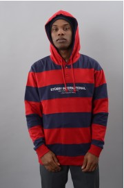 Sweat-shirt à capuche homme Stussy-Hooded Stripe Rugby-FW17/18