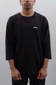 Tee-shirt manches longues homme Stussy-Laguna Dot Raglan-SPRING17