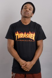 Tee-shirt manches courtes homme Thrasher-T-shirt Flame Logo-FW17/18