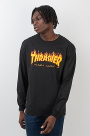 Tee-shirt manches longues homme Thrasher-T-shirt Flame Logo Ls-FW17/18