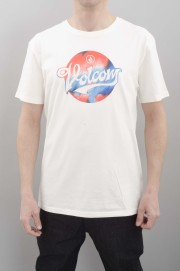 Tee-shirt manches courtes homme Volcom-Electrode Bsc S/s Paint White-SPRING16