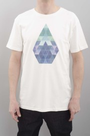 Tee-shirt manches courtes homme Volcom-Prism Bsc S/s  Paint White-SPRING16