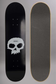 Plateau de skateboard Zero-Single Skull Black White-2016