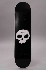 Plateau de skateboard Zero-Single Skull Black White-2017