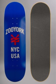 Plateau de skateboard Zoo york-Nyc Usa Blue 8.5-2016