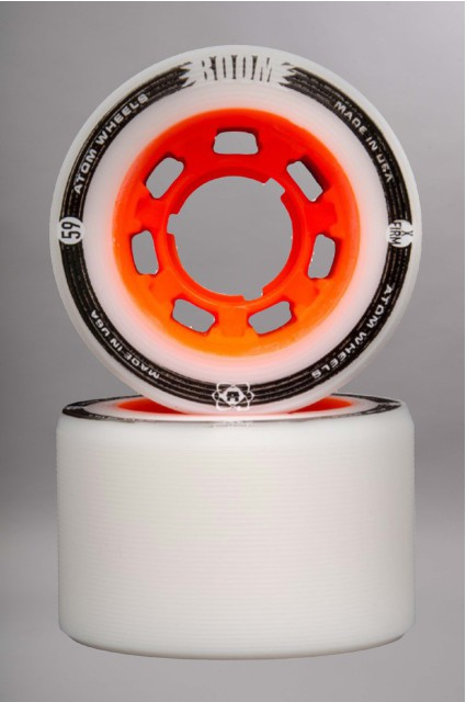 Atom-Boom Slim White/orange 59mm-94a Vendues Par 4-2016