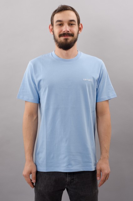 Tee-shirt manches courtes homme Carhartt wip-Carhartt Script Embroidery  T-shirt S/s-FW17/18