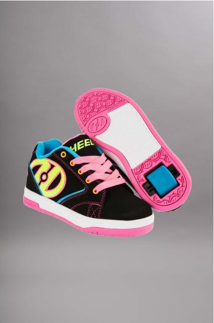 Heelys propel 2 0 black neon black neon multi - Chaussure a roulette pas cher ...