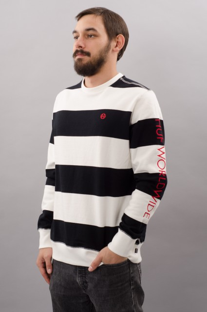 Sweat-shirt homme Huf-Catalina Stripe Crew-FW17/18
