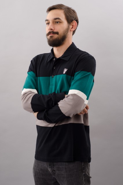 Polo manches longues homme Huf-Polo Bayside-FW17/18