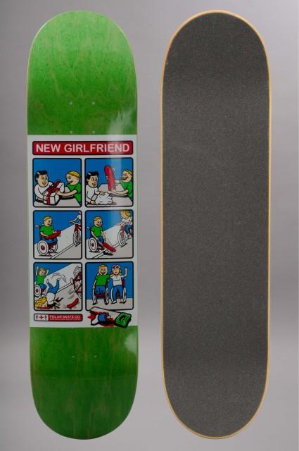 Plateau de skateboard Polar-Team New Girlfriend Green-INTP