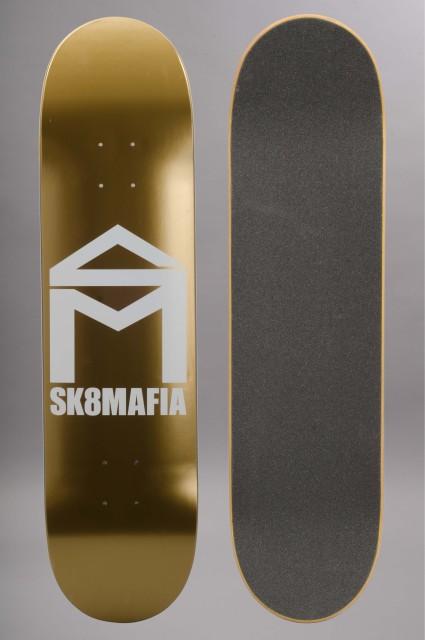 Plateau de skateboard Sk8mafia-Skatemafia House Logo Gold 8.0-2016