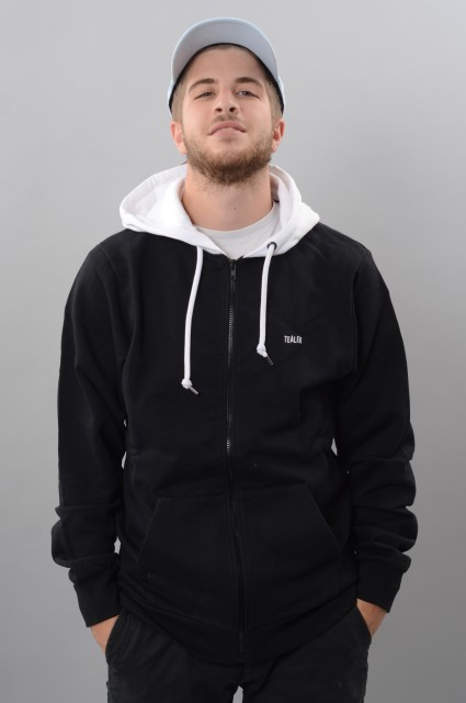 Sweat-shirt zip capuche homme Tealer-Black Zipped Hoodie-FW17/18