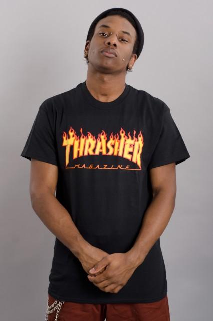 Tee-shirt manches courtes homme Thrasher-Flame Logo-FW17/18