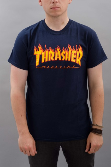 Tee-shirt manches courtes homme Thrasher-Flame Logo-SPRING16