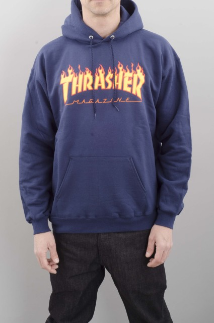 Sweat-shirt à capuche homme Thrasher-Flame-SPRING16