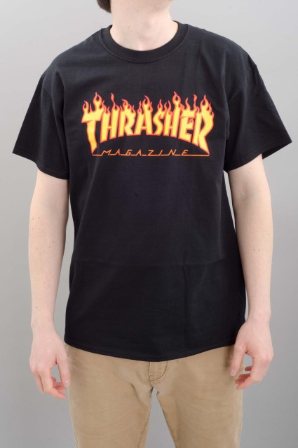 Tee-shirt manches courtes homme Thrasher-Flame-SPRING16